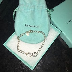 Tiffany and Co sterling Silver Infinity Bracelet